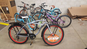 A lot of 40 bicycles , mixed models and sizes