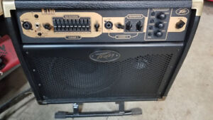 Peavey E110 Acoustic amp,  foot switch and stand