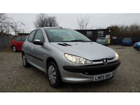 """ 55,000 "" Peugeot 206 1.4 8v Silver s ** AUTOMATIC * IDEAL FIRST CAR **"