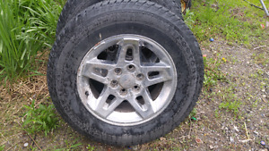 Five star GMC truck rims and tires