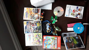 Wii with many great games smash party skylanders