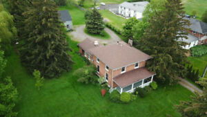 5 bed Century Home with serviced outbuilding/barn on 3.3 acres