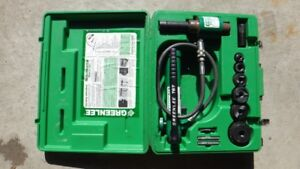 "Greenlee 7306SB Hydraulic Slug Buster Ram and Hand Pump, 1/2"" th"