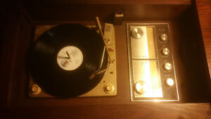 Old Council record player with radio