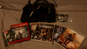 Play Station 3 with 2 Controllers & Games