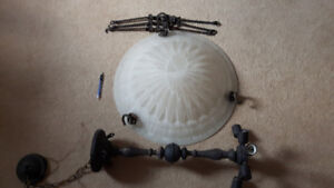 Ceiling light / chandelier for sale (all parts included)