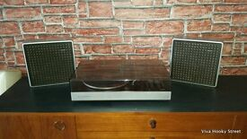 Vintage philips Automatic 851 record player /turntable/deck and speakers