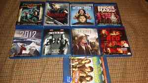 For sale, bru-ray movies bundle 5 each or all for 25 dollar.
