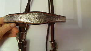 Western headstall with Silver