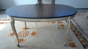 Table with extensions.