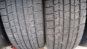 Two Dunlop Graspic 215/70R15 tires
