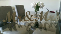 CUSTOM WOOD WEDDING TABLE SIGN - MR & MRS