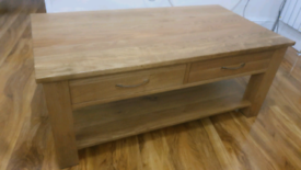 4 Drawer Solid Oak Coffee Table, Great Condition