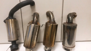 Aftermarket exhaust cans