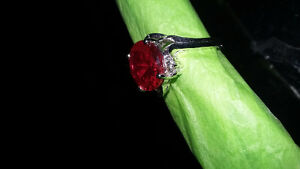 5ct  RUBY, 14 KT GOLD RING