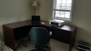 Office desk and chairl