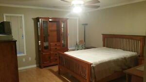 Furnished Master Bedroom with Private Entrance