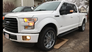 """6 bolt 22"""" rims and tires 2015 Ford F-150 6x135. 6x150maybe more"""