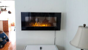 Electric Fireplace wall mount