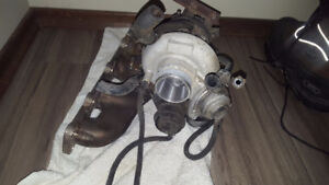 Hyundai Genesis 2.0T turbo charger with ECU and exhaust manifold