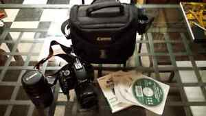Canon Rebel T3i 1100D with extra lens and bag