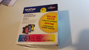 Brother Ink Cartridges 3-pack LC61CL