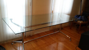 6ft Glass Dining Table only