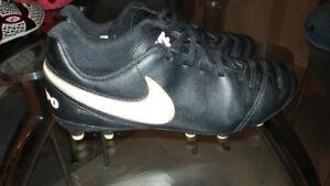 Nike soccer shoes + Crocs. Size 4Y
