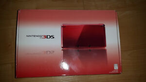 Flame red Nintendo 3ds complete with box