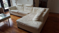 High grade white leather couch was $20,000 new