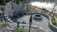 RETAINING WALLS, SHORELINE RESTORATION, EXCAVATOR SERVICES