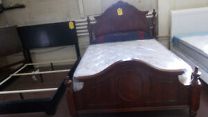 Beds of all kinds. Head and foot boards, mattresses and box.