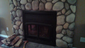 High efficiency Wood Burning Fireplace -- Must see!