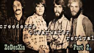 2 record Hair and CREEDENCE CLEARWATER REVIVAL