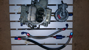 Holley 600cfm and Edelbrock fuel pump and braided lines