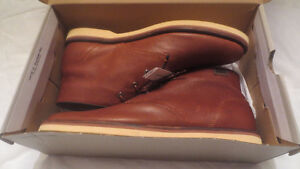 New Lacoste Shoes Boots Mens Montbard Tan Leather Size  12