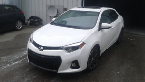2014 Toyota Corolla S White with LOW KMS