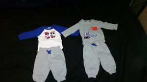 2 Gymboree outfits 3-6 months boy