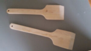 Wooden BBQ scrappers
