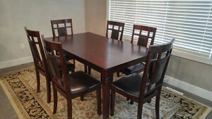 7 Piece Dining Set Espresso Colour