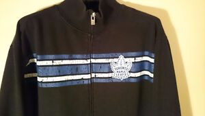Old Time Hockey TORONTO MAPLE LEAFS SWEATER *Large* Full Zipper