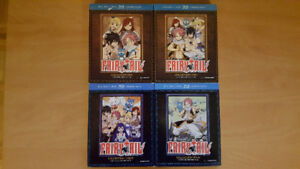 Fairy Tail anime Blu-Ray Sets 1-4