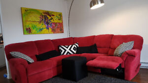 Sectionnel Elran rouge Sofa