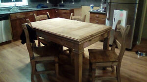 Newer rustic style table and chairs