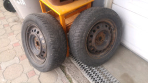 4 tires mounted on mag wheels- 195/65/r15