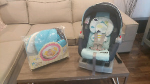 Car seat and baby bath