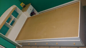 Single Bed Frame w Drawers, Dresser & Night Stand