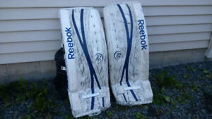 Hockey Goalie gear pads, trapper, blocker $150 skates $60