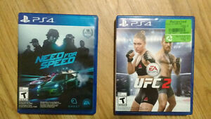 PS4 Games UFC 2 + Need for Speed