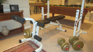 Free weights, Bench & Rack